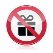 No presents red warning signs - vector — Stock Vector