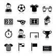Soccer  football vector icons set — Stock Vector