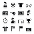 Soccer football vector icons set — Stock Vector #21069615