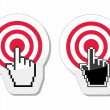Target with cursor hand vector icon — Stock Vector