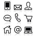 Contact web vector icons set — Stock Vector #21739945
