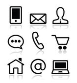 Contact web vector icons set — Stock Vector