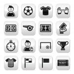 Soccer football vector buttons set — Stock Vector #21972199