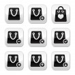 Shopping bag vector buttons set — Stock Vector