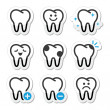 Tooth , teeth vector icons set - Vektorgrafik