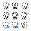 Tooth , teeth vector icons set — Stock Vector