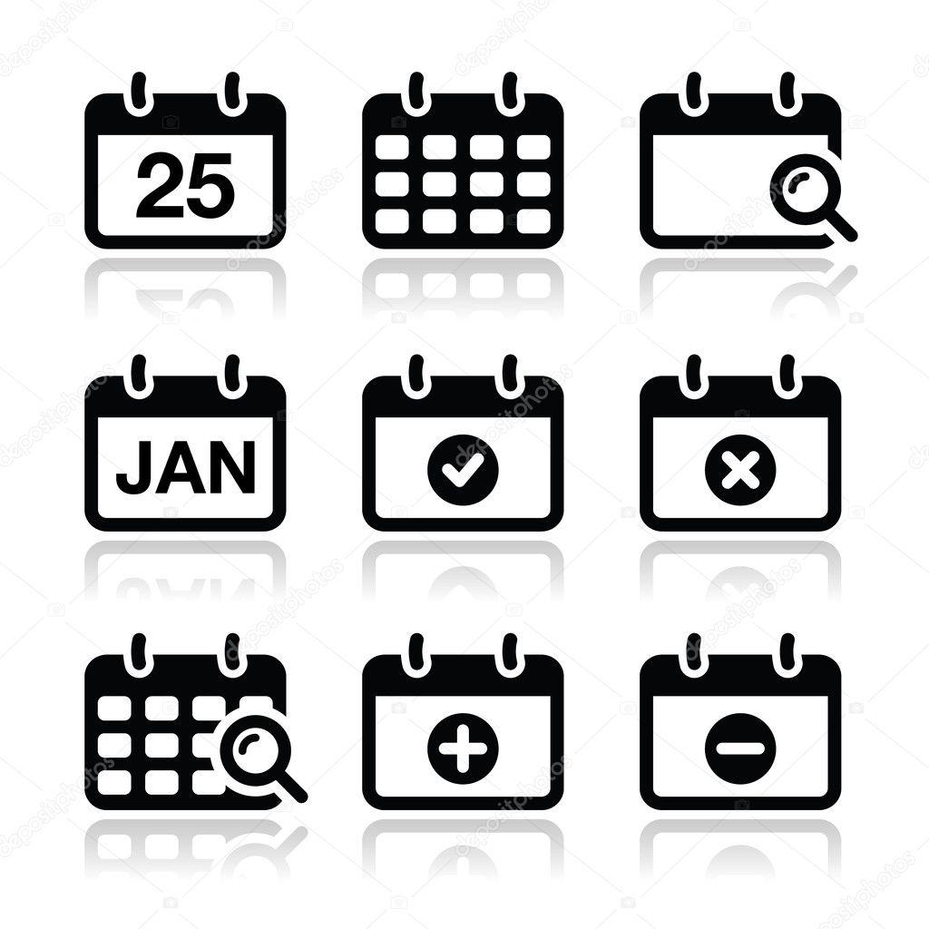 Calendar date vector i...
