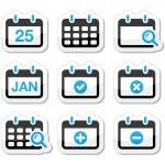 Calendar date vector icons set — Stock Vector #22782390