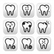 Royalty-Free Stock Vector Image: Tooth , teeth vector buttons set