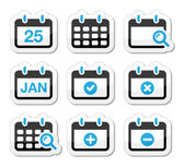 Calendar date vector icons set — Stock Vector