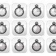 Time, clock, stopwatch vector buttons set - Stock Vector
