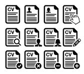 CV - Curriculum vitae, resume vector icons set — Stock Vector