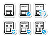 Invoice, finance vector icons set — Stock Vector