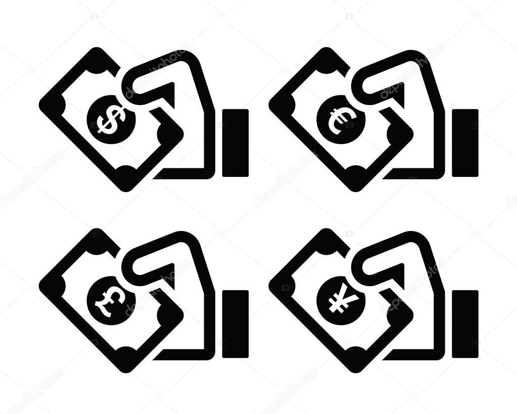 значок йены: