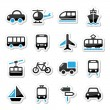 Royalty-Free Stock Vector Image: Transport, travel vector icons set isoalted on white