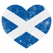Scotland retro heart flag — Stock Vector