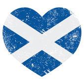 Scotland retro heart flag — Stock Vector