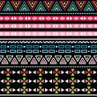 Stockvector : Tribal aztec colorful seamless pattern