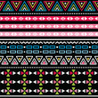 Wektor stockowy : Tribal aztec colorful seamless pattern