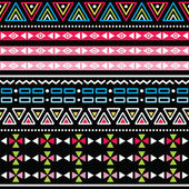 Tribal aztec colorful seamless pattern — Cтоковый вектор