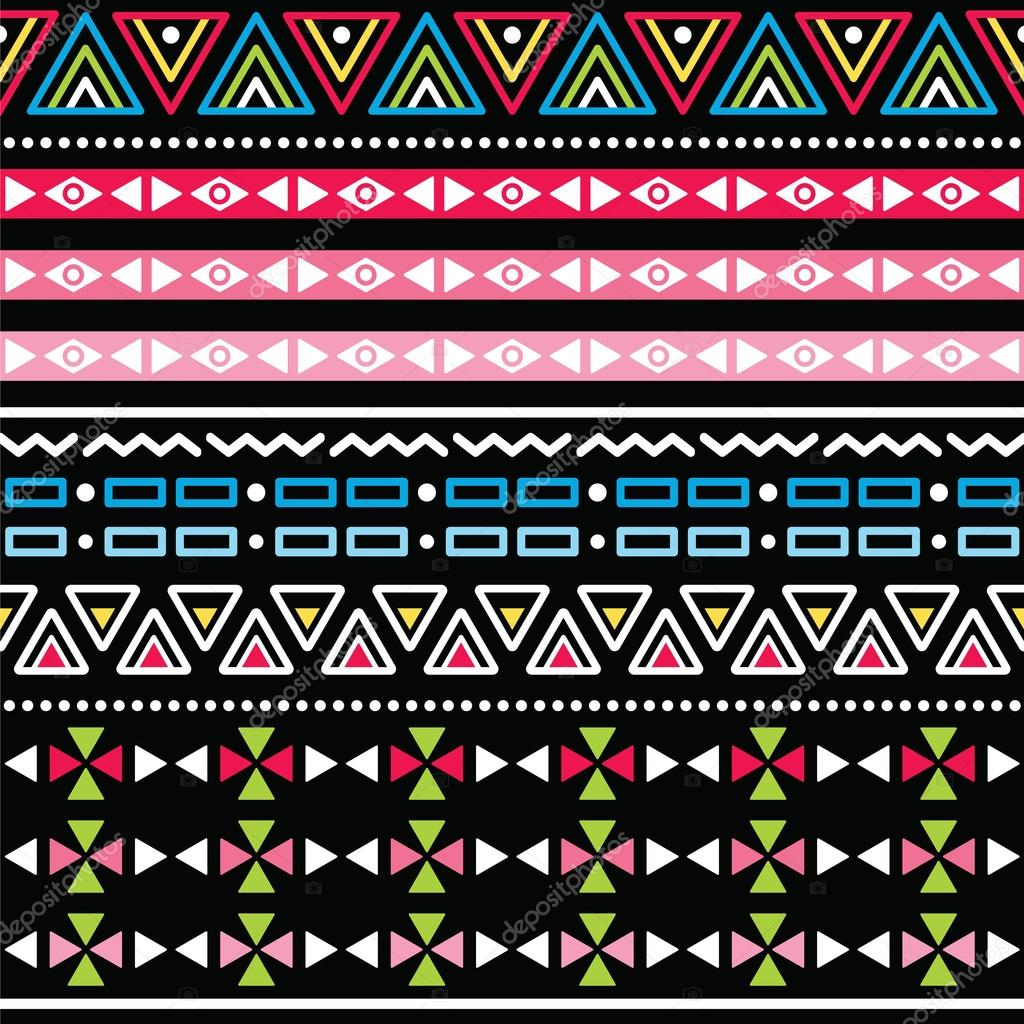 Tribal aztec colorful seamless pattern — Stock Vector ...