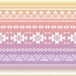 Royalty-Free Stock 矢量图片: Tribal aztec ombre seamless pattern