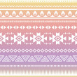 Royalty-Free Stock ベクターイメージ: Tribal aztec ombre seamless pattern