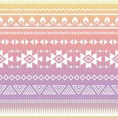 Modèle sans couture tribal ombre aztèque — Vecteur