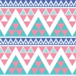 Stock Vector: Tribal aztec colorful seamless pattern