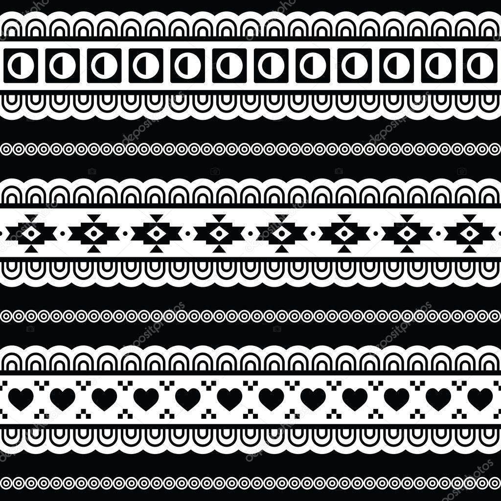 Transparent motif tribal azt que fond noir et blanc image vectorielle redkoala 26127545 - Motif noir et blanc ...