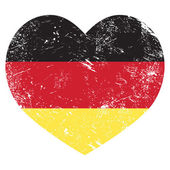 Germany heart shaped retro flag — Stock Vector