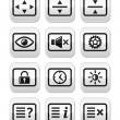 Royalty-Free Stock Vector Image: Computer tv monitor screen vector buttons set