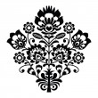 Traditional polish folk pattern in black and white — Stock Vector