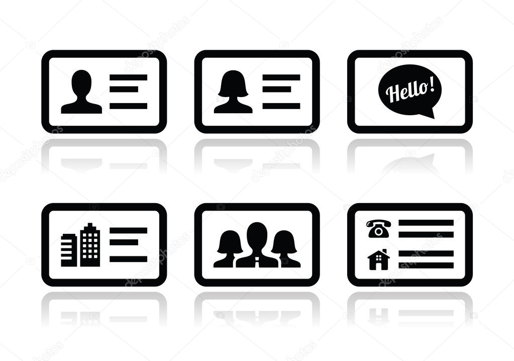 Business Card Icons Vector Business Card Vector by