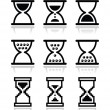 Stock Vector: Hourglass, sandglass vector icon set