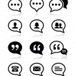 Stock Vector: Speech bubble, blog, contact vector icons set