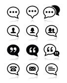 Speech bubble, blog, contact vector icons set — Stock Vector