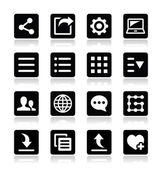 Menu settings tools icons set — Stock Vector
