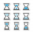 Hourglass, sandglass vector icon set — Stock Vector #28801973