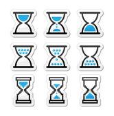 Zandloper, sandglass vector icon set — Stockvector