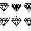 Diamond vector icons set — Stock Vector #28854779