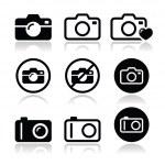 Camera vector icons set — Stock Vector #29046397
