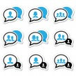 Business meeting, communication icons set — Stock Vector #29448117