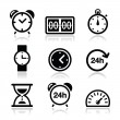 Time, clock vector icons set — Stock Vector #29537921