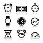 时间,时钟矢量图标集 — 图库矢量图片