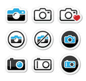 Camera analogue and digital icons set — Stock Vector