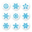 Snowflakes, Christmas vector icons set — Stock Vector #29818077