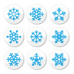 Snowflakes, Christmas vector icons set — Stock Vector