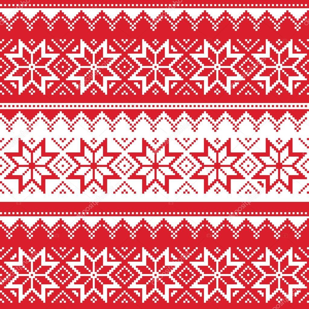Nordische nahtlose weihnachten rot muster stockvektor 169 redkoala
