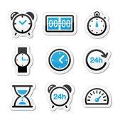 Czas, zestaw ikon wektor zegar — Wektor stockowy